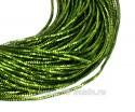 Трунцал (витая канитель) 1,5 мм, цвет зеленый MN-17, пр-во Индия, упаковка 5 грамм (разные отрезки, общая длина около 2,7 метров) 058318 - 99 бусин