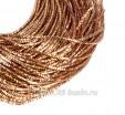 Трунцал (витая канитель) 1,5 мм, цвет MN-06 тёмное розовое золото, Индия, упаковка 5 грамм (разные отрезки, общая длина около 2,9 метров) 058358 - 99 бусин