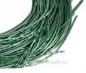 Канитель SLIM FANCY 1,3 мм гладкая упругая, цвет sea green (морской зелёный металлик) 5 граммов (около 2,3 метров) 058362 - 99 бусин