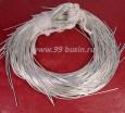 Канитель ОПТ гладкая глянцевая 1 мм, цвет MD-01 серебро, пр-во Индия, 50 граммов (около 26 метров) 058420 - 99 бусин