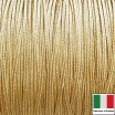 Сутаж премиум Италия 2 мм цвет Oro giallo (золото) 1 метр 058681 - 99 бусин