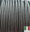 Сутаж премиум Италия 4 мм цвет Ardesia (серый шифер) 1 метр 058688 - 99 бусин