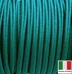 Сутаж премиум Италия 4 мм цвет Verde smeraldo  (зелёный изумруд) 1 метр 058693 - 99 бусин