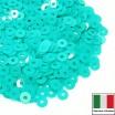 Пайетки 3 мм Италия плоские, цвет 6044 Turchese Opaline 3 грамма (ок.1600 штук) 058710 - 99 бусин