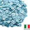 Пайетки 5 мм Италия форма чаша, цвет 0164 Azzuro Orientale 3 грамма (ок.600 штук) 058723 - 99 бусин