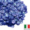 Пайетки 5 мм Италия форма чаша, цвет 6233 Bluette Orientale 3 грамма (ок.600 штук) 058724 - 99 бусин
