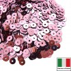 Пайетки 4 мм Италия плоские цвет 3821 Rosa Metallizzati 3 грамма (ок.900 штук) 058729 - 99 бусин