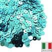 Пайетки 4 мм Италия плоские цвет 6111 Azurro Metallizzati 3 грамма (ок. 900 штук) 058731 - 99 бусин