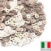 Пайетки 4 мм Италия плоские цвет 806W Oro Rosa Satinato (Розовое золото сатин) 3 грамма (ок. 900 штук) 058748 - 99 бусин