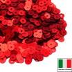 Пайетки 4 мм Италия плоские цвет 466W Rosso Satinato (Красный сатин) 3 грамма (ок. 900 штук) 058751 - 99 бусин