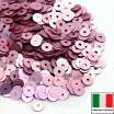 Пайетки 4 мм Италия плоские цвет 306W Rosa Satinato (Розовый сатин) 3 грамма (ок. 900 штук) 058753 - 99 бусин