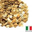Пайетки 4 мм Италия плоские цвет 2011 Oro Metallizzato (Золото металлик) 3 грамма (ок.900 штук) 058775 - 99 бусин