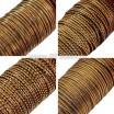 Бить рифлёная цвет бронза ассорти 4 вида по 3 метра, размер 1,5-2 мм в пластиковой баночке, Индия 058786 - 99 бусин