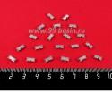 """Стразы АКРИЛОВЫЕ пришивные в цапах """"брусочек"""" Мини 8*4 мм, цвет полупрозрачный белый, 20 штук/упаковка 059039 - 99 бусин"""