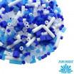 Бисер TOHO Beads Mix, цвет 08 White/Blue Matte, в баночке, 10 грамм 059046 - 99 бусин