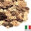 Пайетки 3 мм Италия плоские цвет 866W Oro Antico Satinato (Темное золото сатин) 3 грамма (ок. 1600 штук) 059163 - 99 бусин