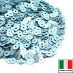Пайетки 3 мм Италия плоские цвет 606W Azzurro Satinato (Голубой сатин) 3 грамма (ок. 1600 штук) 059167 - 99 бусин