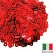 Пайетки 3 мм Италия плоские цвет 4061 Rosso Metallizzati 3 грамма (ок. 1600 штук) 059207 - 99 бусин