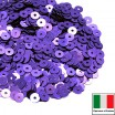 Пайетки 3 мм Италия плоские цвет 5161 Viola chiaro Metallizzati (Фиолетовый металлик) 3 грамма (ок. 1600 штук) 059208 - 99 бусин