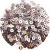 ОПТ Мини пайетки плоские 4 мм Rain Drum Colour Pearl Finish Sequins № 1488 Индия 30 грамм 059357 - 99 бусин