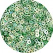 ОПТ Пайетки плоские 4 мм Neptune Green № 838 Индия 30 грамм/упаковка 059436 - 99 бусин