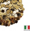 Пайетки 5 мм Италия рифлёные плоские цвет 2011 Oro Metallizzato (Золото металлик) 3 грамма 059618 - 99 бусин