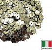 Пайетки 5 мм Италия рифлёные плоские цвет 2071 Oro antico Metallizzato (античное золото металлик) 3 грамма 059619 - 99 бусин