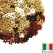 Пайетки 5 мм Италия Цветочки цвет 2071 Oro antico Metallizzato (античное золото металлик) 3 грамма 059621 - 99 бусин