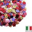 Микс пайеток Цветочки 5 мм Осенний вальс металлик (цвета 2011,4061,3271,5161,5511) 3 грамма 059626 - 99 бусин