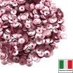 Пайетки 4 мм Италия чаша цвет 306W Rosa Satinato (Розовый сатин) 3 грамма 059651 - 99 бусин