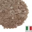 Пайетки 3 мм Италия плоские, цвет 8234 Nocciola Opaline (Фундук Опалин) 3 грамма (ок.1600 штук) 059666 - 99 бусин