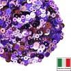 Микс пайеток ТРЕВИЗО (Плоские 3 мм 506W, 556W, 5031 4 мм 3821,5161) сиреневый, фиолетовый, лиловый, Италия 3 грамма 059830 - 99 бусин