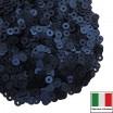 Пайетки 3 мм Италия плоские цвет 686W Blu Scuro Satinato (Тёмный синий сатин) 3 грамма (ок. 1600 штук) 059872 - 99 бусин