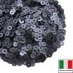 Пайетки 3 мм Италия плоские цвет 976W Grigio Scuro Satinato (Тёмный графит сатин) 3 грамма (ок. 1600 штук) 059874 - 99 бусин