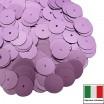 Пайетки 10 мм Италия плоские цвет 506W Lilla Satinato (Лиловый сатин) 3 грамма (ок. 150 штук) 059897 - 99 бусин