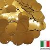 Пайетки 12 мм Италия плоские боковое отверстие цвет 2011 Oro Metallizzato (Золото металлик) 3 грамма 059904 - 99 бусин