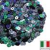 Пайетки 4 мм Италия плоские, цвет 9275 Scarabeo Metallizzato 3 грамма ок 900 штук 059931 - 99 бусин