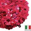 Пайетки 4 мм Италия плоские цвет 5511 Rosso Cillegia Metallizzati (Вишневый металлик) 3 грамма (ок. 900 штук) 059932 - 99 бусин