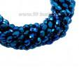 Бусина хрустальная Капля размер 8*6 мм синий электрик, нить 25-26 см, ок.35 штук Китай 060126 - 99 бусин