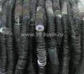 Пайетки для люневильской вышивки 4 мм Ливан плоские, нить 1000 штук, цвет 6 серебро радужный металлик 060347 - 99 бусин