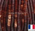 Пайетки 3 мм Франция плоские на нити цвет 10060 orange mat - оранжевый сатин (Серия METALLIC MAT ASPECT) 1000 штук 060414 - 99 бусин