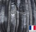 Пайетки 4 мм Франция плоские на нити цвет 7069 light grey - светло серый прозрачный (Серия GLOSSY CRYSTAL) 1000 штук 060419 - 99 бусин