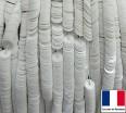 Пайетки 4 мм Франция плоские на нити цвет 5002 - White - белый ориентал (Серия ORIENTAL)1000 штук 060431 - 99 бусин