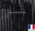 Пайетки 3 мм Франция плоские на нити цвет 10080 black mat - чёрный матовый (Серия METALLIC MAT ASPECT) 1000 штук 060443 - 99 бусин