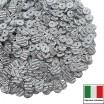 Пайетки Италия гофрированные 4 мм цвет G2 adgento (серебро) 3 грамма 060479 - 99 бусин