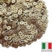 Пайетки Италия гофрированные 4 мм цвет G3 Oro (золото) 3 грамма 060480 - 99 бусин