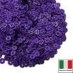Пайетки Италия гофрированные 4 мм цвет G6 viola (фиолетовый) 3 грамма 060483 - 99 бусин