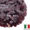 Пайетки Италия LUSTRE 4 мм прозрачные марсала 3 грамма 060557 - 99 бусин