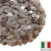 Пайетки Италия LUSTRE 4 мм прозрачные капуччино 3 грамма 060559 - 99 бусин
