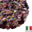 Пайетки Италия плоские 4 мм Marrone metall. Iridato MI07 (Ореховый радужный металлик) 3 грамма 060622 - 99 бусин